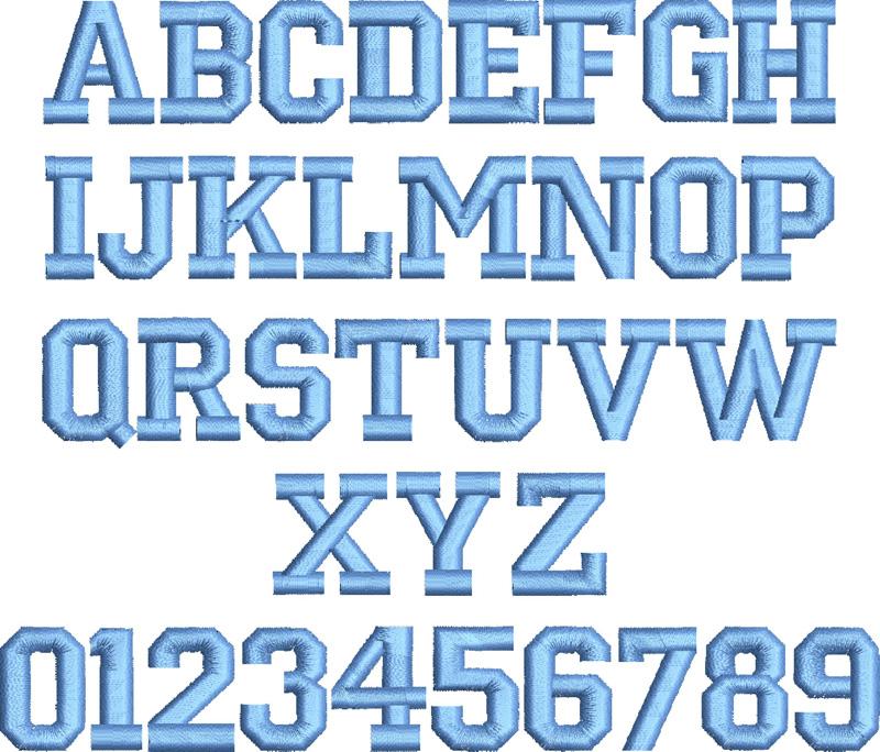 15 Varsity Block Font Letter A Images