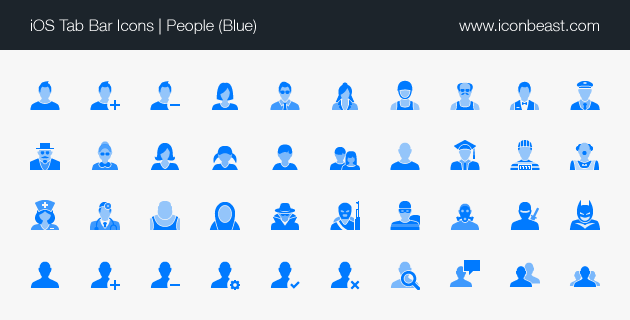 15 Simple Blue People Icon Images