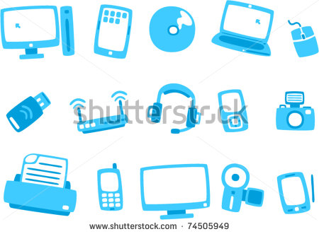 Blue Technology Icon