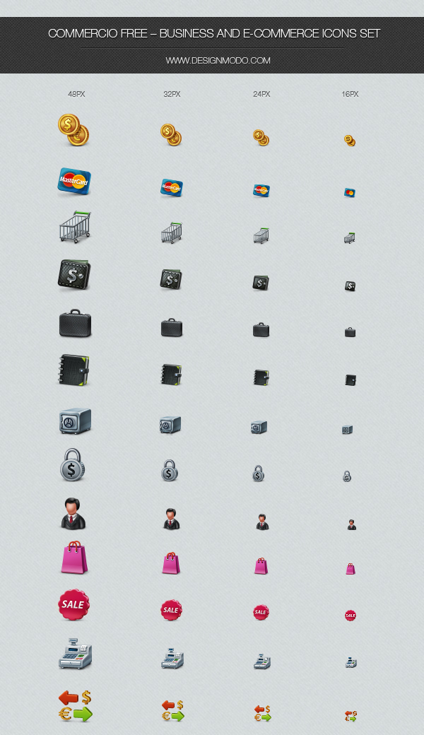 Business Icon Set Free Download
