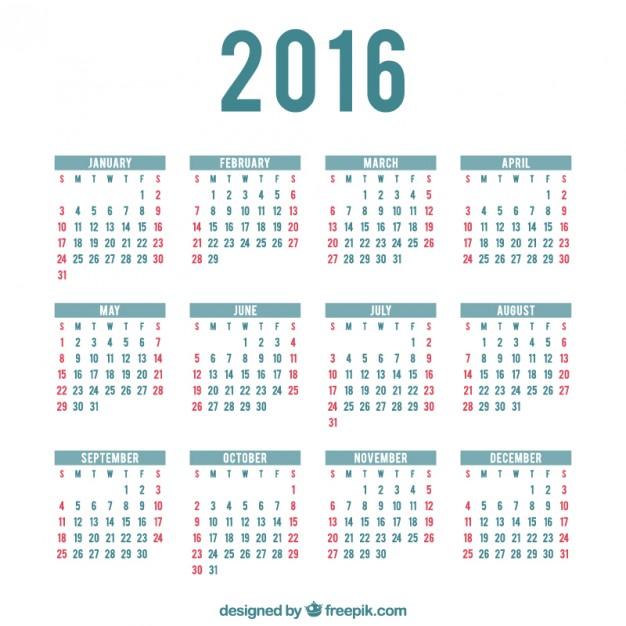 10 2016 Calendar Template PSD Images