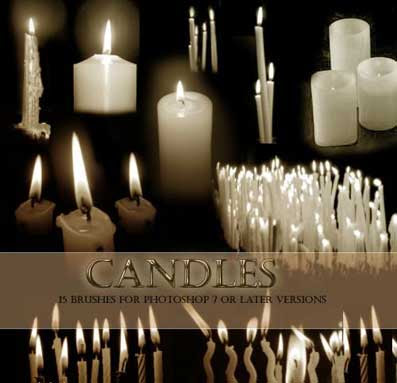 14 Candle PSD Brushes Images