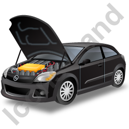Car Repair Icon Black