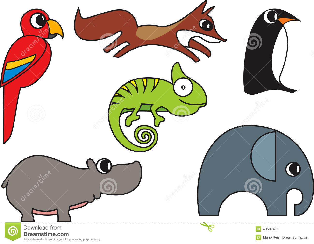 Cartoon Wild Animals Vector