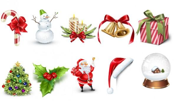 Christmas Icons PSD