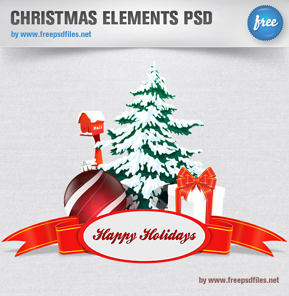 Christmas PSD Elements