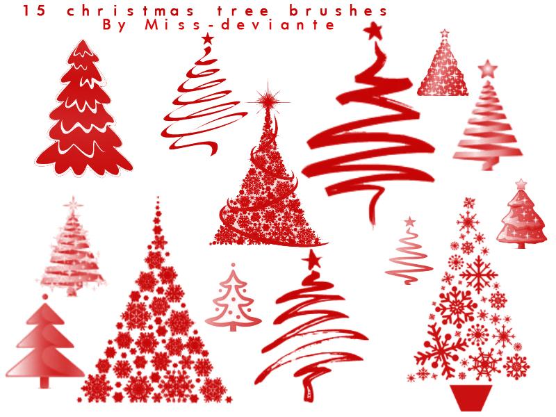 14 Christmas Tree Photoshop Images
