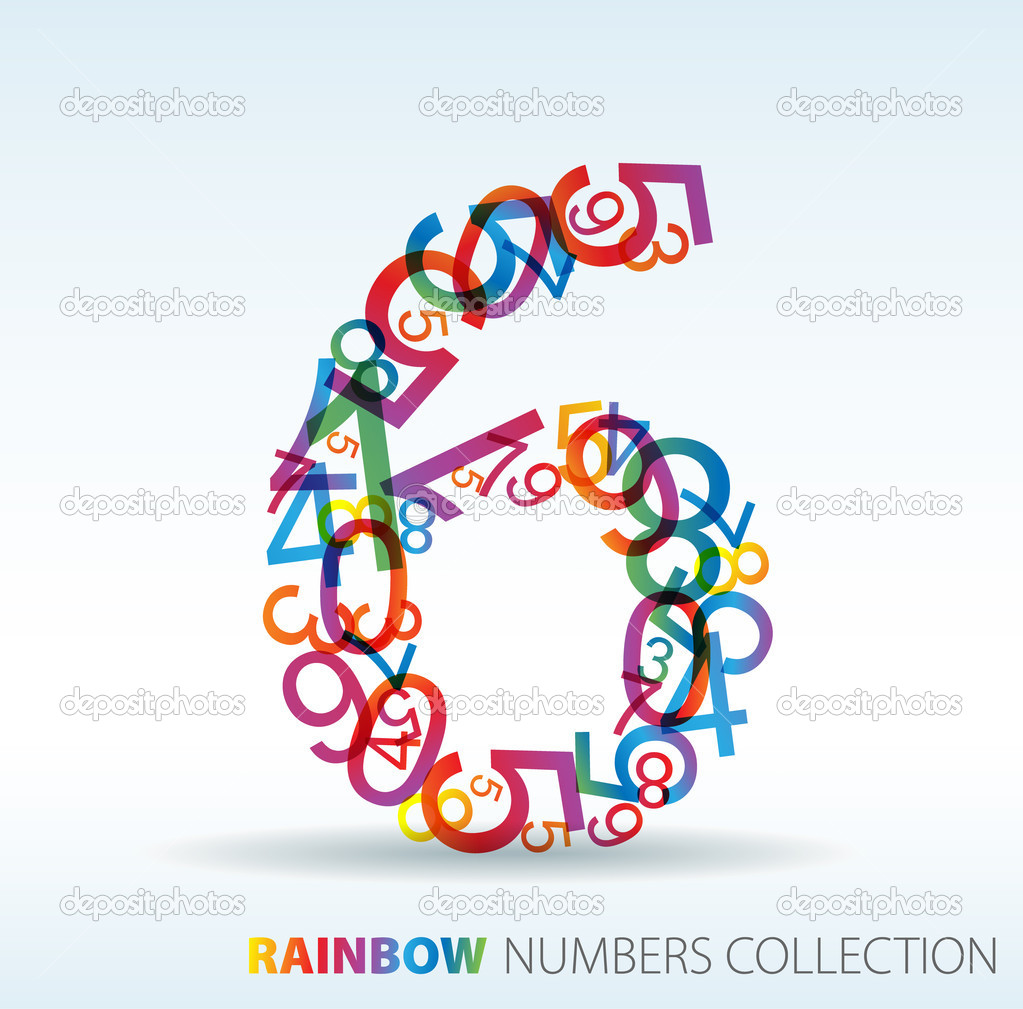 10 Colorful Number 6 Fonts Images - Free Colorful Fonts ...