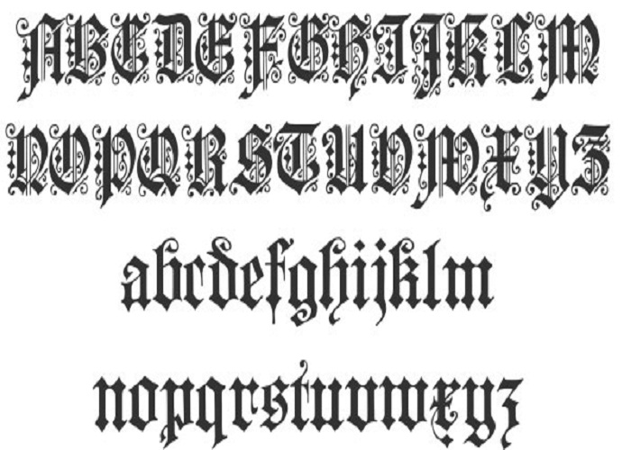 Cool Cursive Tattoo Fonts