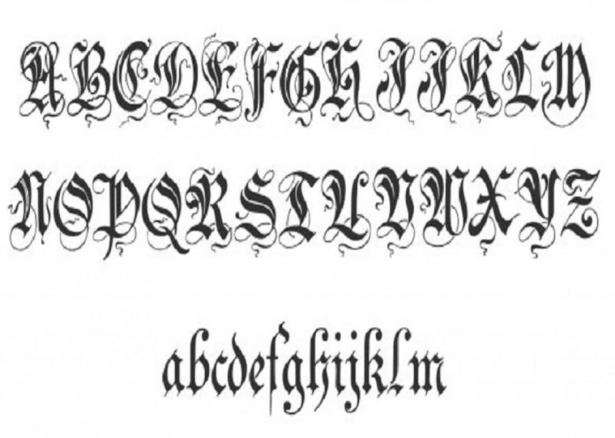 Tattoo Fonts Cursive Alphabet - Photos Alphabet Collections