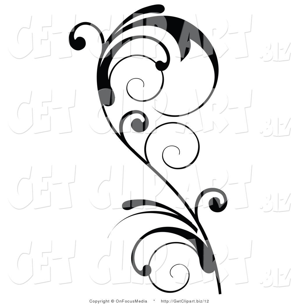 Curly Designs Clip Art
