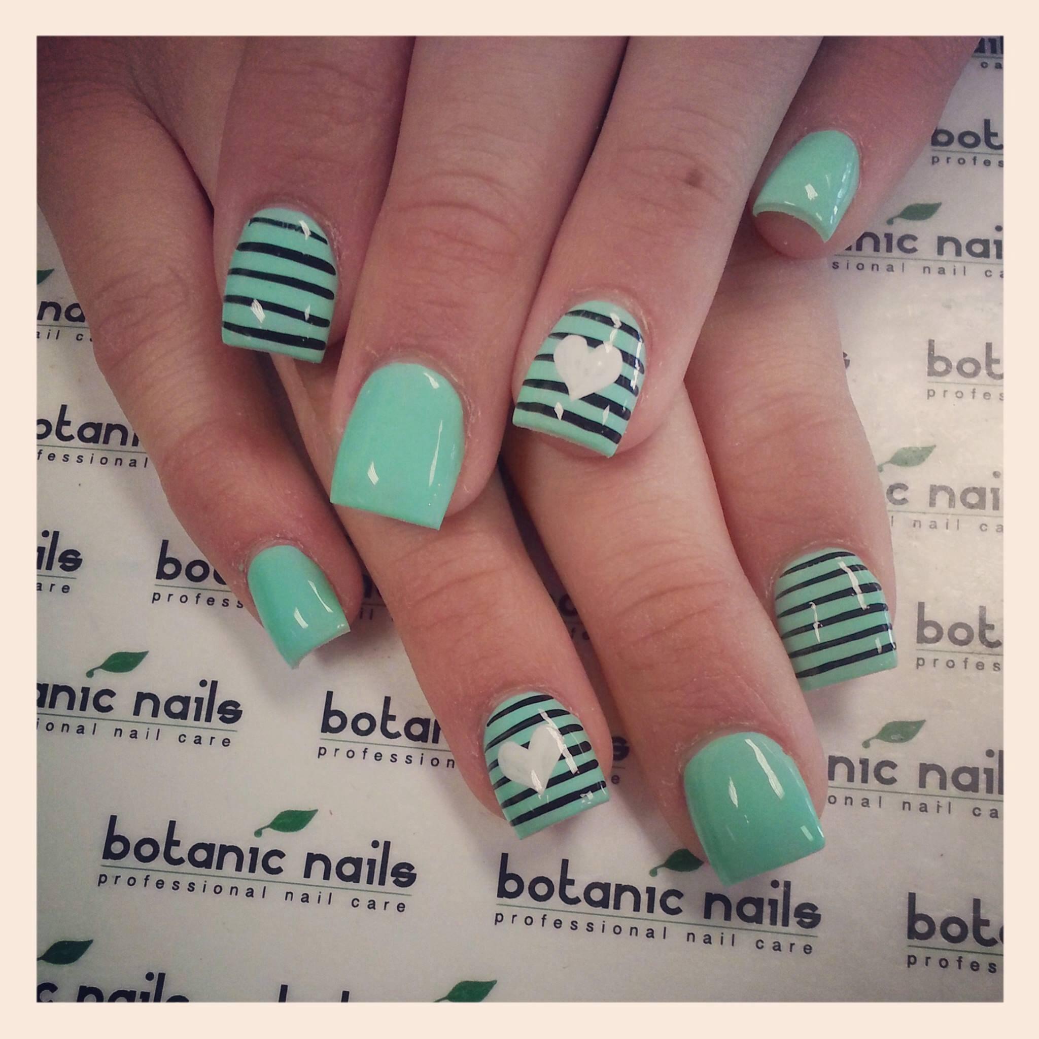 14 Mint Green Nail Designs Pinterest Images Mint Green Nail