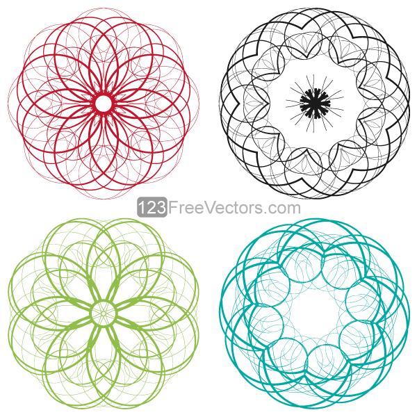 Decorative Circle Clip Art Designs