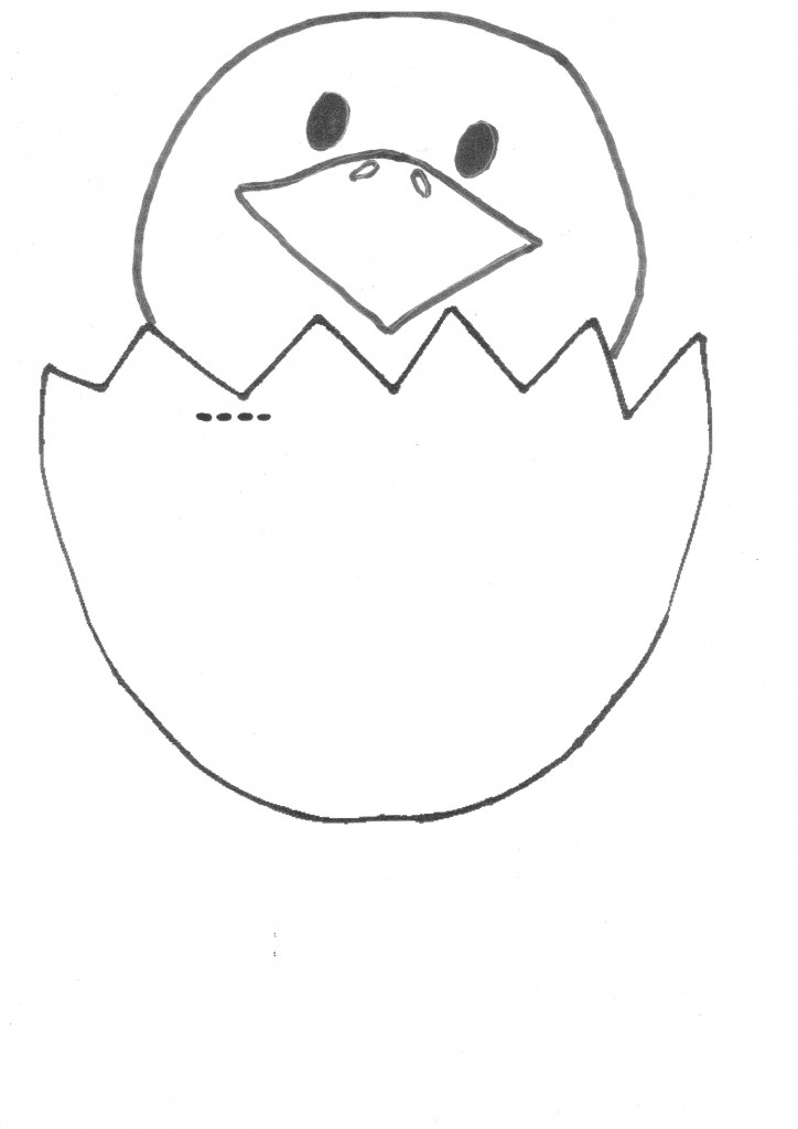 Easter Egg Chick Template Printable