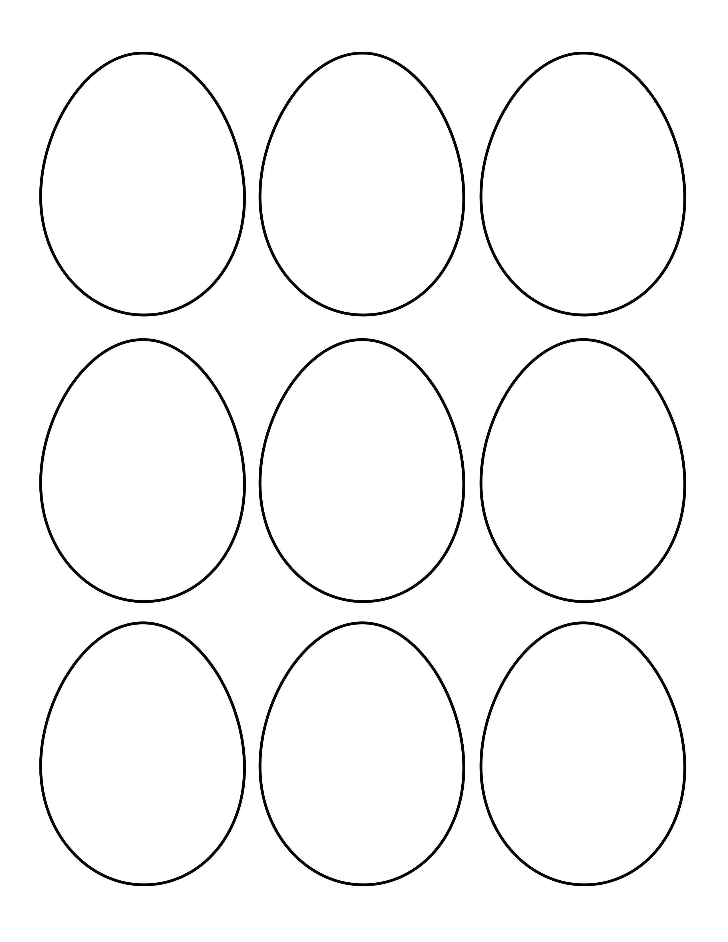 Easter Egg Cut Out Template to Print