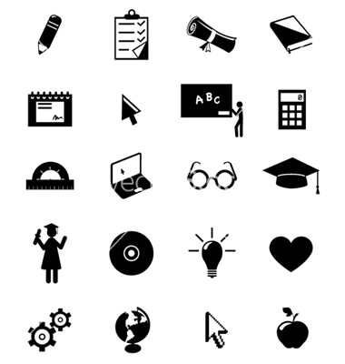 Education Icons Vector Free