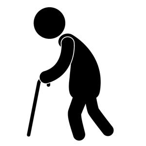 Elderly People Silhouette Clip Art