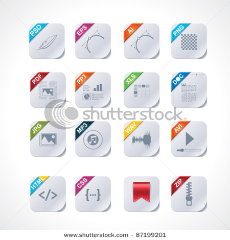 File Type Icons Vector Free