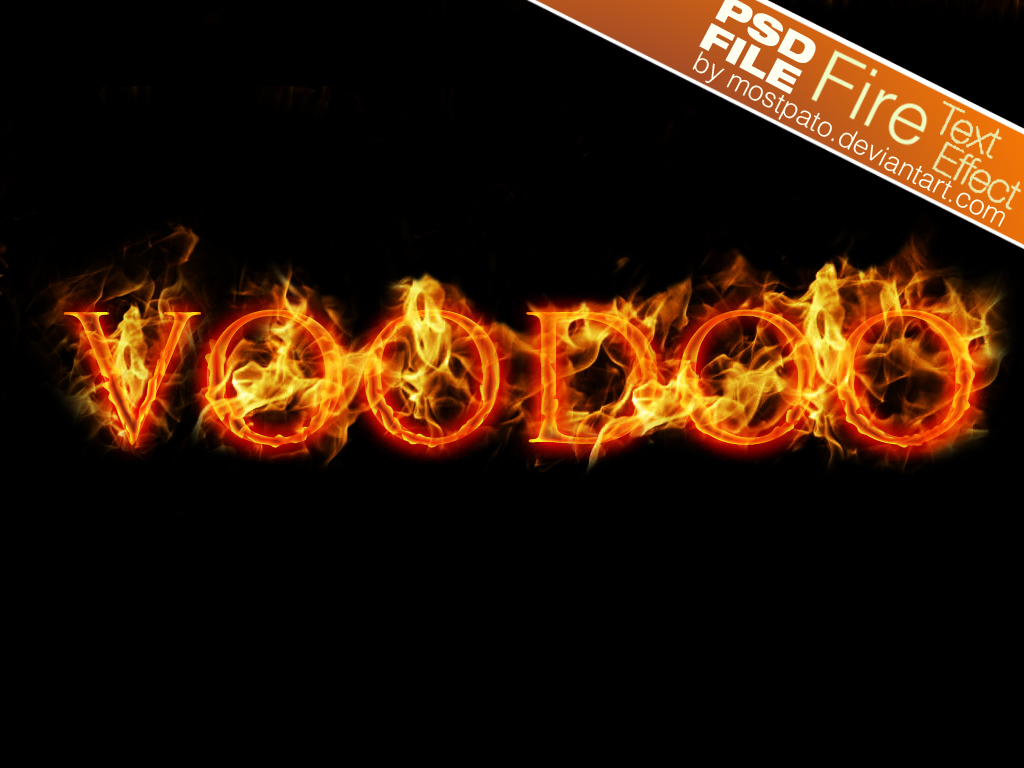 Fire Text Effect PSD file - Free Photoshop Brushes at ...