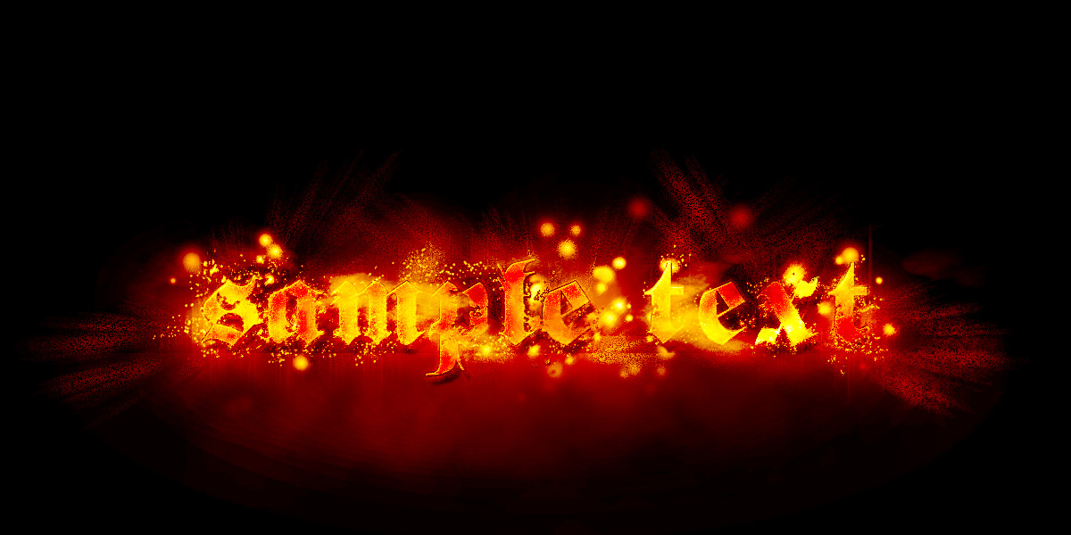 Fire Text Effect Photoshop