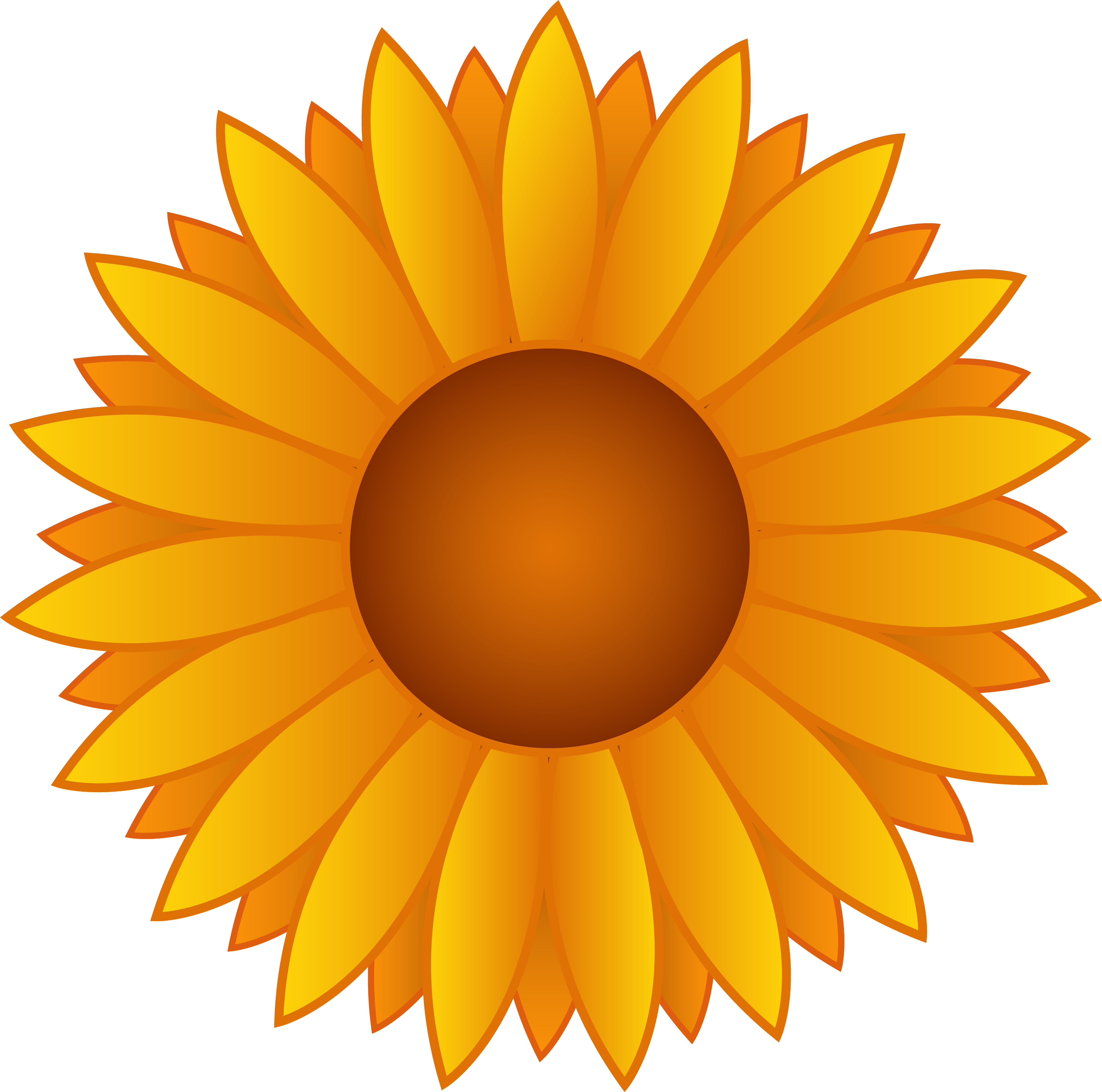 14 Sunflower Vector Art Images
