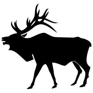 17 Vector Clip Art Of Elk Images