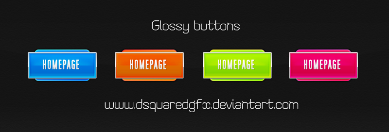 Free Glossy Button PSD