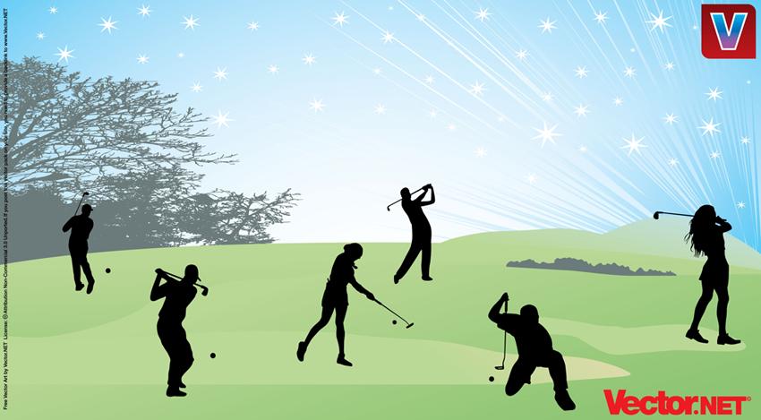 17 Golf Vector Art Images