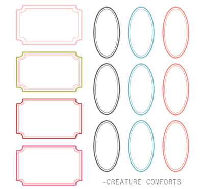 post it labels templates - 12 fancy label templates images fancy label templates
