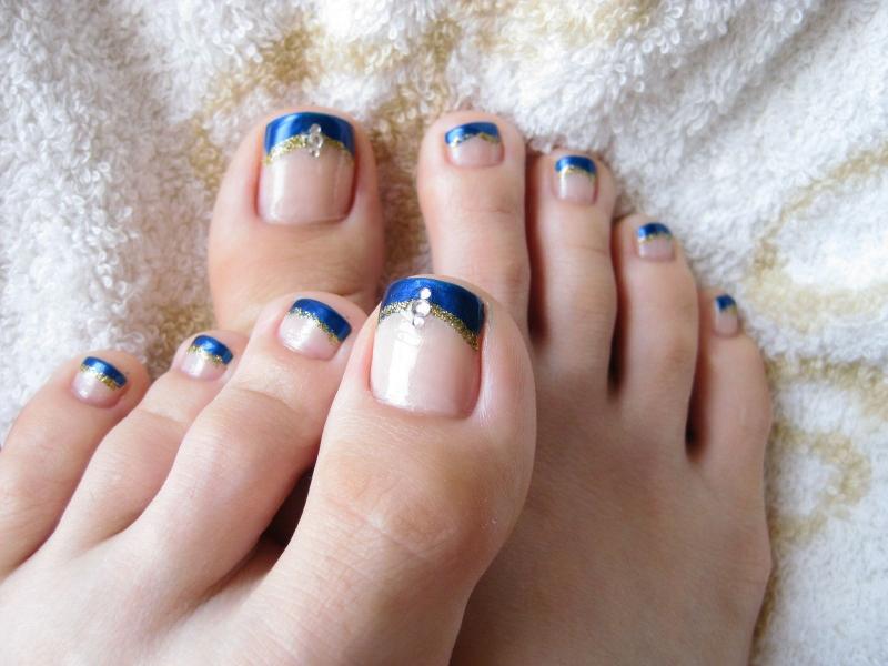 Enchanting French Tip Toe Nail Designs Adornment - Nail Art Ideas ...