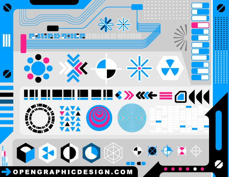 High-Tech Graphics Vector