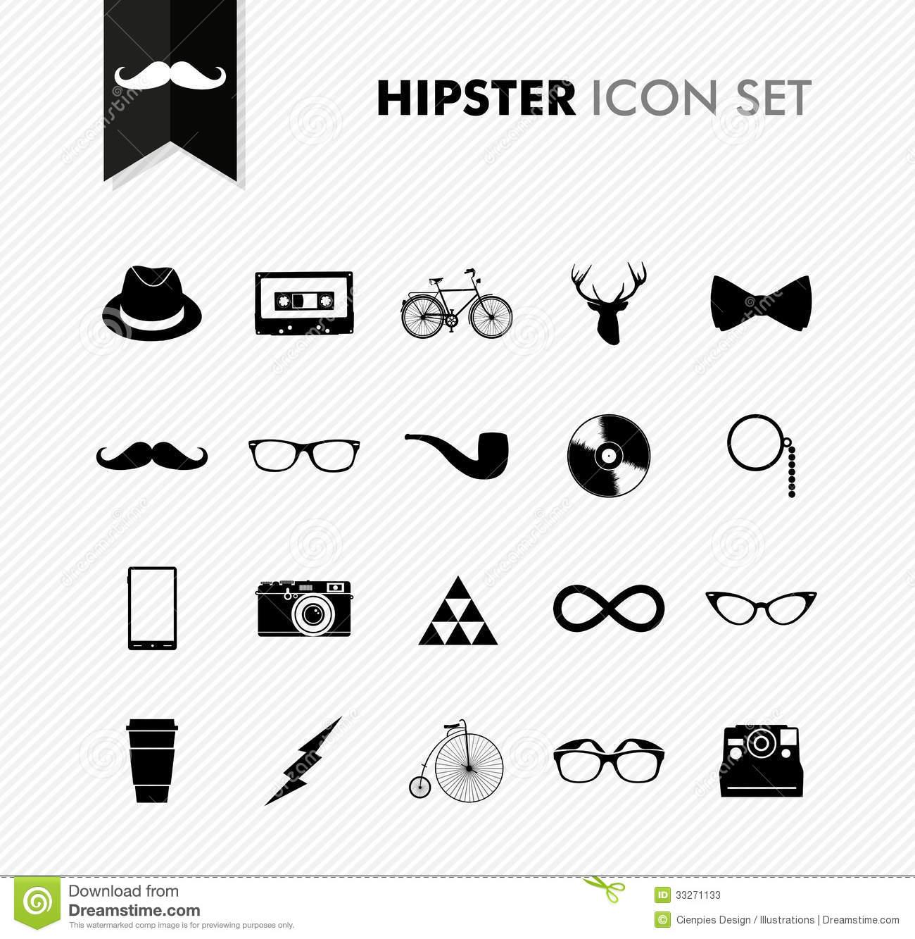 Hipster Vintage Camera Icon Vectors
