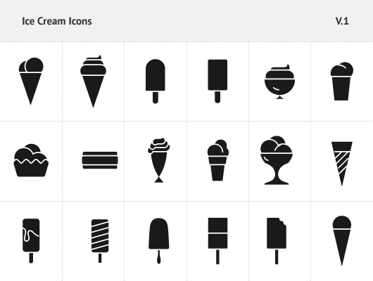 17 Ice Cream Vector Icon Images
