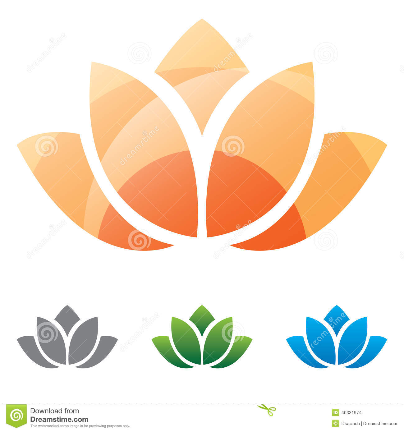Lotus Flower Silhouette Vector