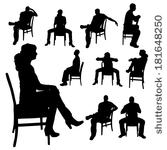 Man Sitting in Chair Silhouette