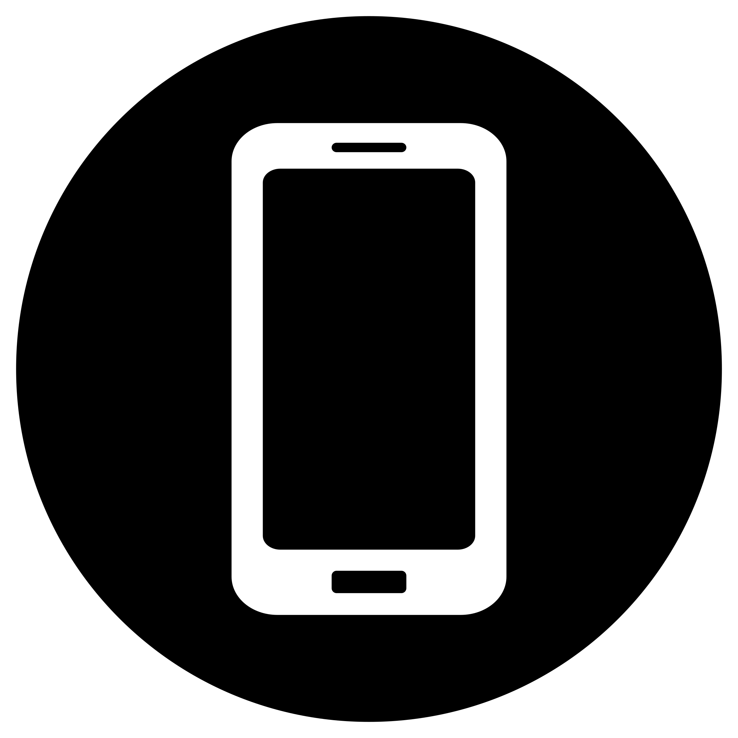 Mobile Phone Icon Black and White