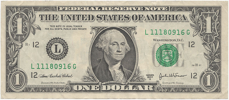 Money 1 Dollar Bill
