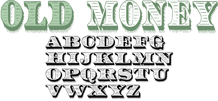 Money Lettering Font
