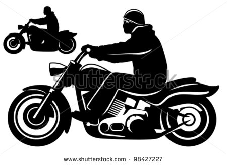 13 Motorcycle Rider Vector Images