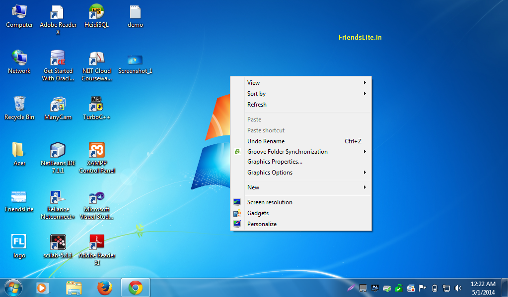 No Desktop Icons Windows 7