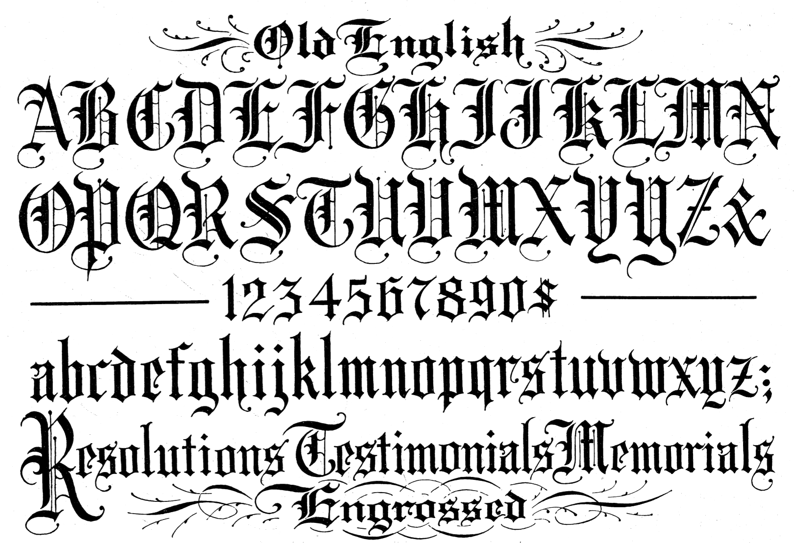 Tattoo Fonts Generator Calligraphy Within Old English