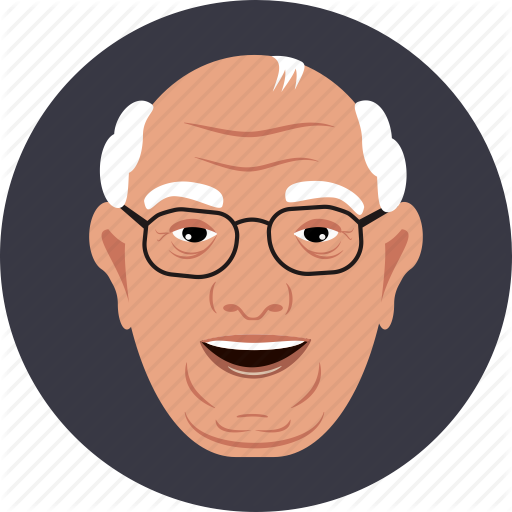 Old Man with Glasses Icon
