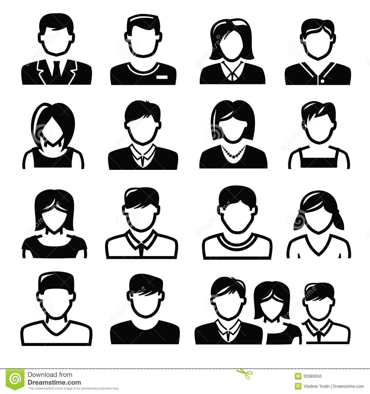 People Icon Black White