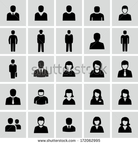 Person Icon Black and White