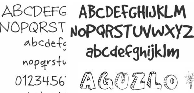 11 Free Handwriting Fonts For Photoshop Images - Photoshop Fonts