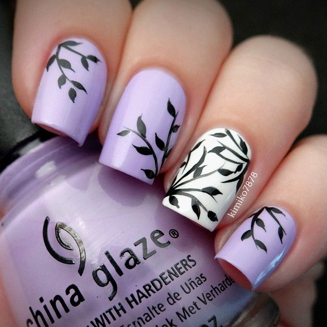 12 Light Purple Nail Designs With Base Images