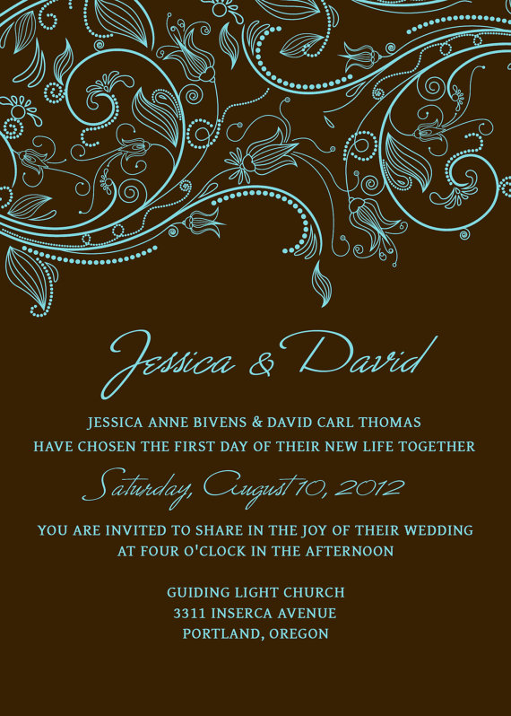 17 Rustic Wedding Invitation PSD Templates Images