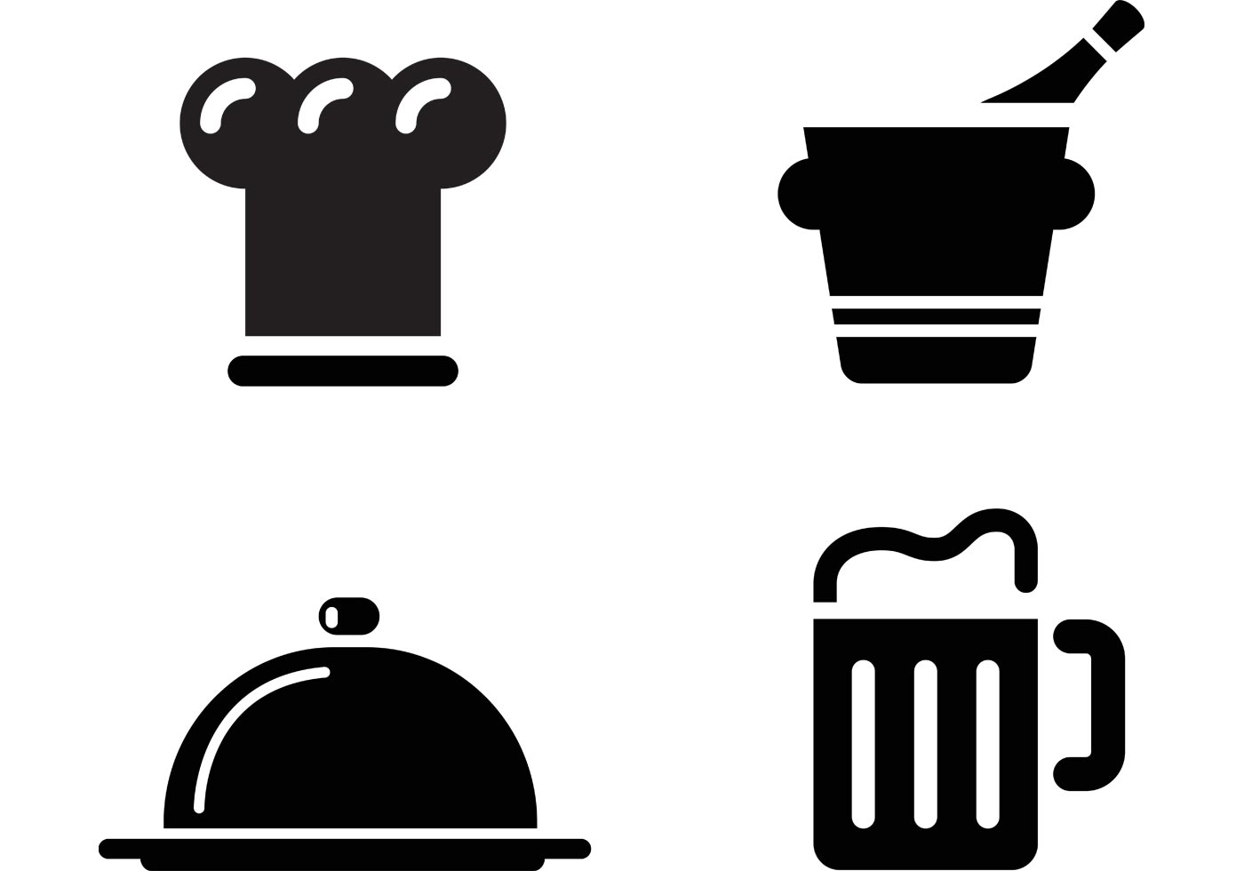 Vector restaurant icons images icon