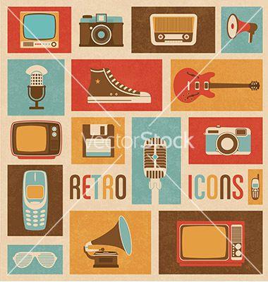 Retro Vector Icons