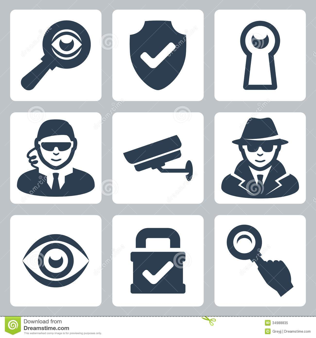 6 Security Icon Vector Images